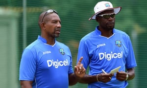 Current West Indies coaches Phil Simmons (left) and Curtly Ambrose experienced the dominance of their side's golden era first hand but now find themselves swimming against the tide.