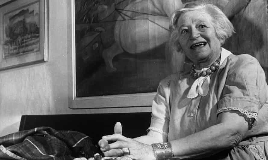 Frieda Lawrence, circa 1971, divorced wife of DH Lawrence, whom she married in 1914.