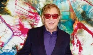 Elton John in artwork for his new album Wonderful Crazy Night