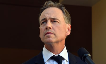 Australia's health minister Greg Hunt