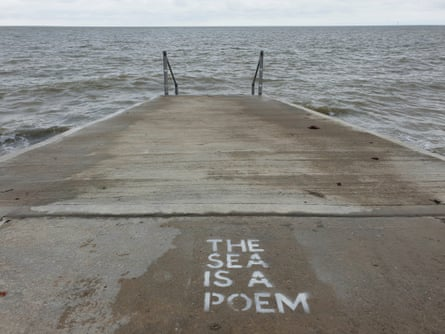 Seaside Poetry, taken in Margate by Dan Thompson, one of the artists behind the Back & Fill project