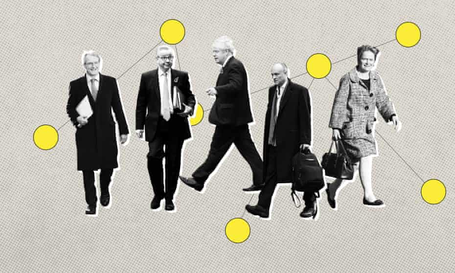 Owen Paterson, Michael Gove, Boris Johnson, Dominic Cummings, Dido Harding