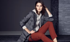 M&S limited edition coat (£69), collection jumper (£125) and Autograph trousers (£49.50).