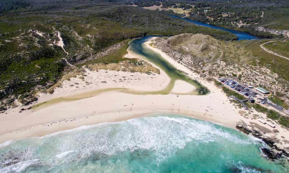 The mouth of the Margaret river in Western Australia