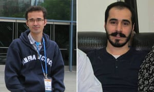 Omid Kokabee, left, an Iranian physicist jailed for more than five years on political grounds, and Hossein Ronaghi, right, an imprisoned blogger on hunger strike.