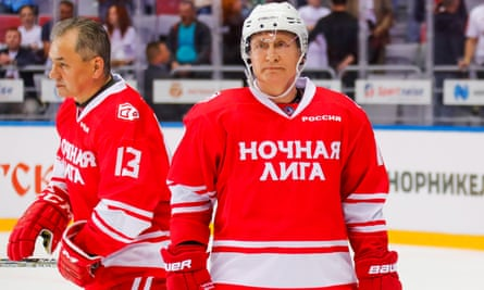 Vladimir Putin S Ice Hockey Slump Continues In Five Goal Performance Ice Hockey The Guardian
