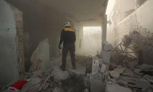 Search for bomb survivors