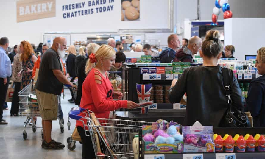 Shoppers at the opening of the Jack's store in Chatteris, Cambridgeshire in September 2018.