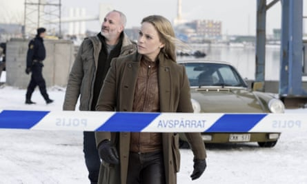 Kim Bodnia and Sofia Helin in series 2 of The Bridge. Carolina Romare