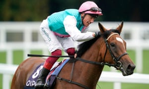 Frankie Dettori celebrates after victory on Enable in the King George VI and Queen Elizabeth Stakes at Ascot.