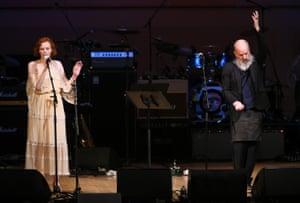 Michael Stipe and Karen Elson