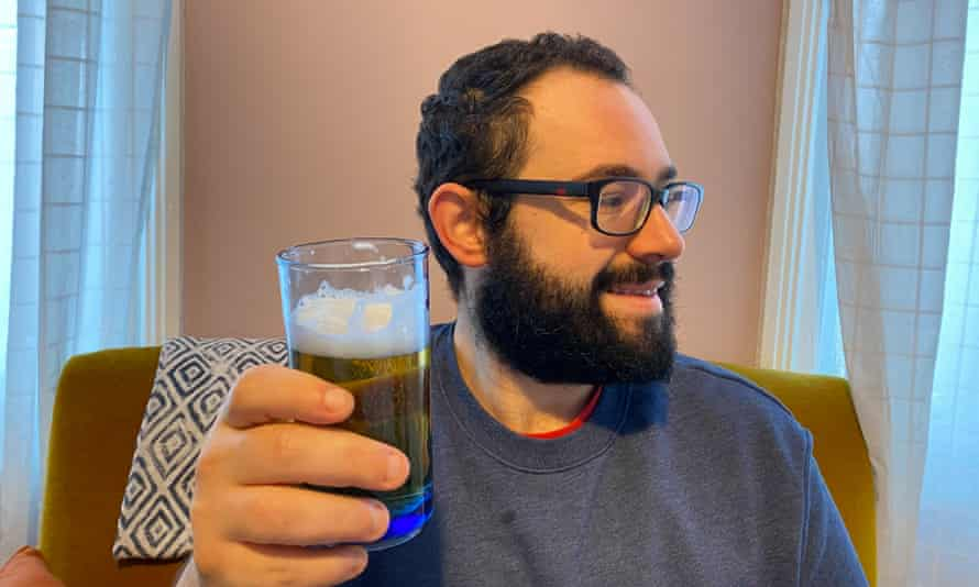 Toby Moses enjoys a drink in moderation