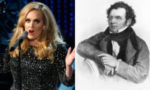 Adele and Franz Schubert composite