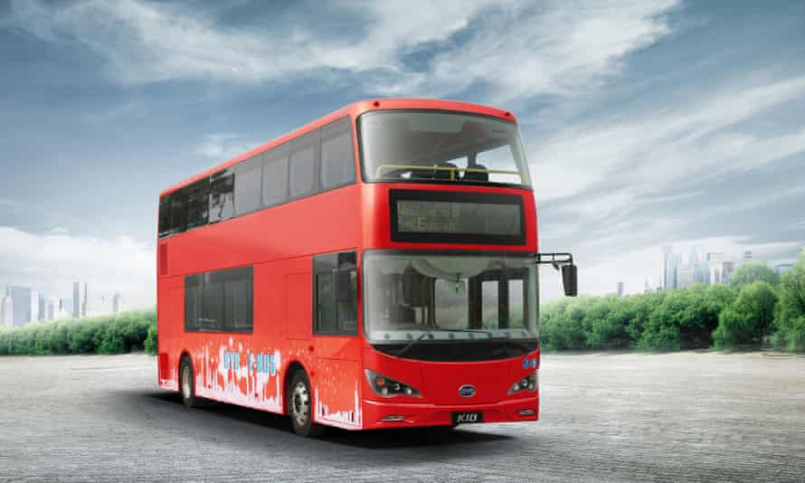 The world's first pure electric zero emission double decker bus