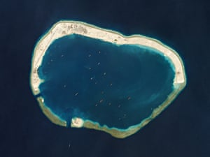 Mischief reef in the Spratly Islands in the South China Sea