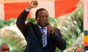 Vice-president Emmerson Mnangagwa, pictured in 2016.