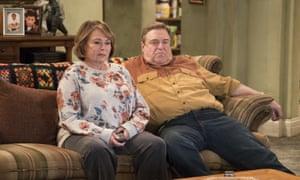 Roseanne Barr with John Goodman in the reboot of Roseanne.