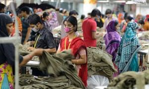 A textile factory in Dhaka, Bangladesh.
