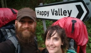 "<strong>Happy valley</strong><br>We're on a walk from John O'Groats to Lands End and this picture was taken in the pouring rain as we approached Fort William.<br>Photograph: <a href=""https://witness.theguardian.com/user/guardianUser13999619"">Carrie Lou/GuardianWitness</a>"
