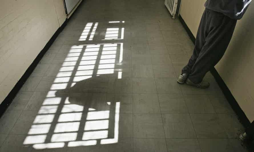 Interior of a young offender institution, England.