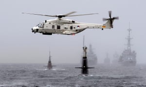 Nato anti-submarine exercise in the North Sea off the coast of Norway, 4 May 2015