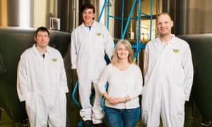 Employees at Little Valley Brewery.