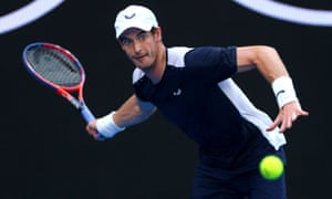 Andy Murray during the Australian Open, the last time the 31-year-old was in competitive action