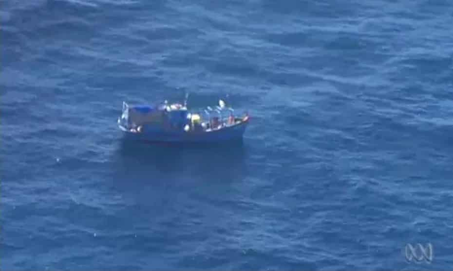 The boat on which 46 Vietnamese asylum seekers were found off the coast of Western Australia last year.