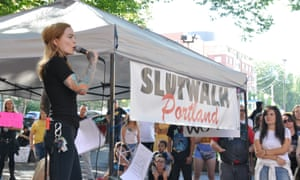 Stripper and podcaster Elle Stanger, who has been co-organizing the Portland Slutwalk in Portland, Oregon, since 2014. It's a demonstration against sexualized violence and victim blaming.