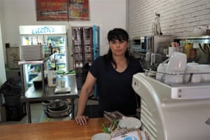Michelle Rayner in Eileen's cafe