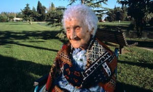 France's Jeanne Calment, thought to be the longest living person, who died in 1997 aged 122.