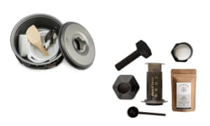 MalloMe campfire cookware mess kit and AeroPress coffee maker