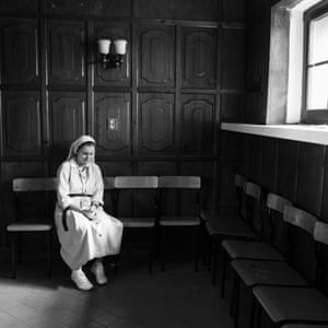 A nun during a quiet moment of prayer