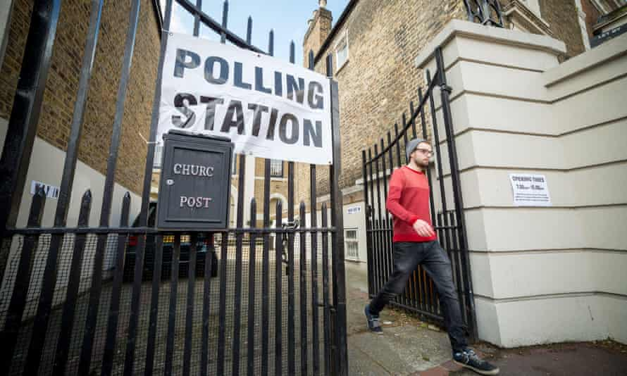 A polling station in Lewisham. Sir John Holmes has said new locations for polling stations should be considered.