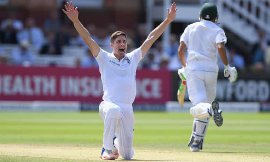Chris Woakes appeals with success for a Pakistan wicket during the first Test at Lord's in 2016, the year Woakes established himself in the Test side