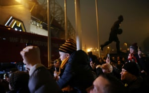 Wolves fans outside Molineux before the match against Liverpool in January 2020.