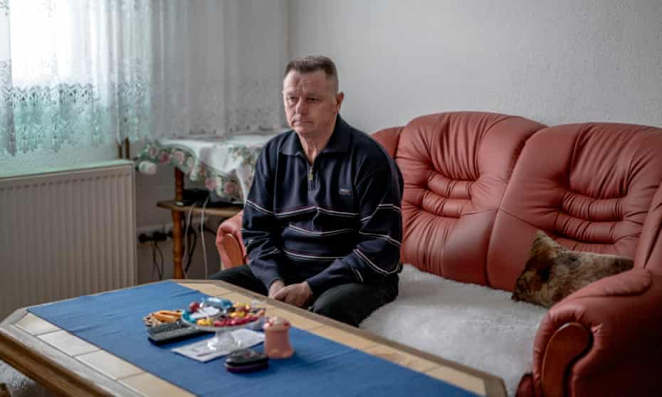 Fikret Bacic at home in Carakovo: 29 members of his family were taken by Bosnian Serb forces and killed in July 1992. He is still searching for the remains of most of them.