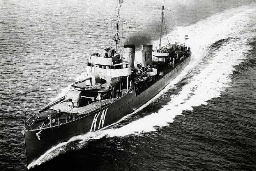 HNLMS Kortenaer, which was sunk in the Battle of Java in 1942
