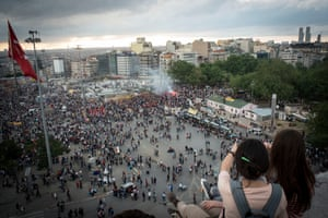 Protests to save to save Gezi Park in Taksim Square, Istanbul
