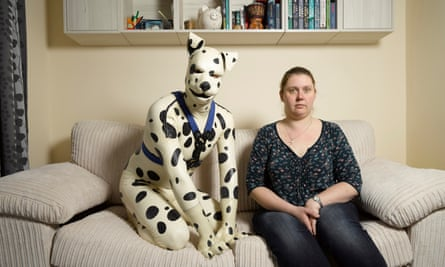 It's a dog's life … Spot at home with his former fiancee Rachel.