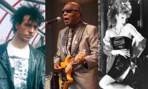 L-r: Nigel Blackwell from Half Man Half Biscuit, soul and blues man Clarence Carter and American new wave singer Cristina.