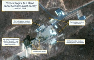Satellite images suggesting North Korea's rebuilding of Sohae Launch Facility.