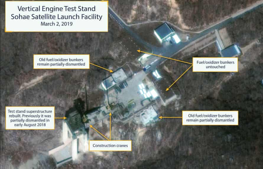 Satellite images suggest North Korea's rebuilding of the Sohae launch facility.