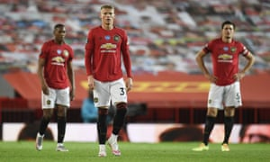 Manchester United's Anthony Martial, Scott McTominay and Harry Maguire look on in dismay after victory was snatched away by Southampton in a dramatic finale.