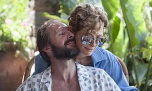 Ralph Fiennes and Tilda Swinton in A Bigger Splash.