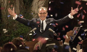 "In this image released by HBO, Bryan Cranston portrays President Lyndon B. Johnson in a scene from, ""All the Way,"" premiering Saturday at 8 p.m. ET on HBO. (Hilary Bronwyn Gayle/HBO via AP)"