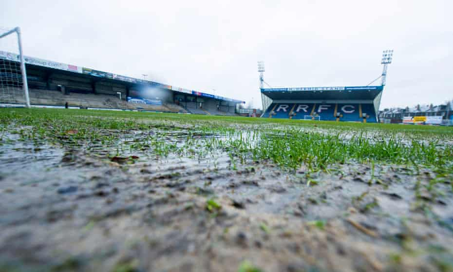 Stark's Park was home to one of several waterlogged pitches.