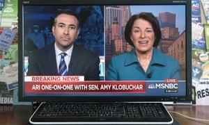 Amy Klobuchar speaks to Ari Melber of MSNBC.