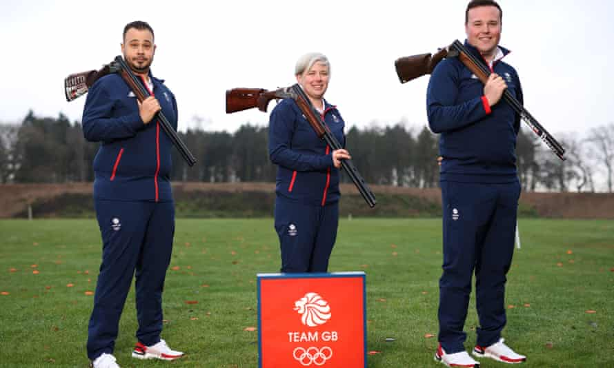 Shooting stars (left to right) Aaron Heading, Kirsty Hegarty and Matthew Coward-Holley will be part of Team GB at the Tokyo Games.