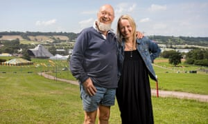 Michael Eavis and daughter Emily